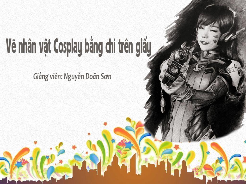 Vẽ nhân vật Cosplay bằng chì trên giấy